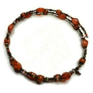 Vintage beaded choker necklace